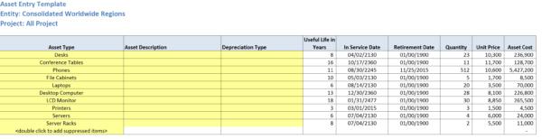deFacto Capital Expenditure Model Template