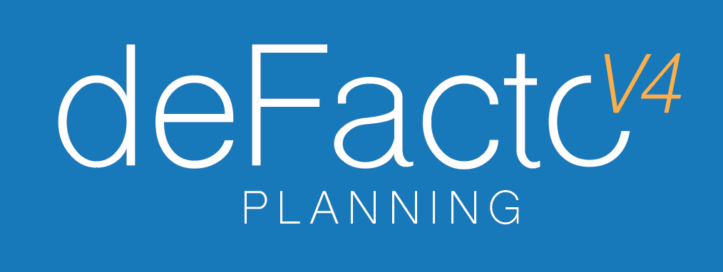 deFacto Planning version 4