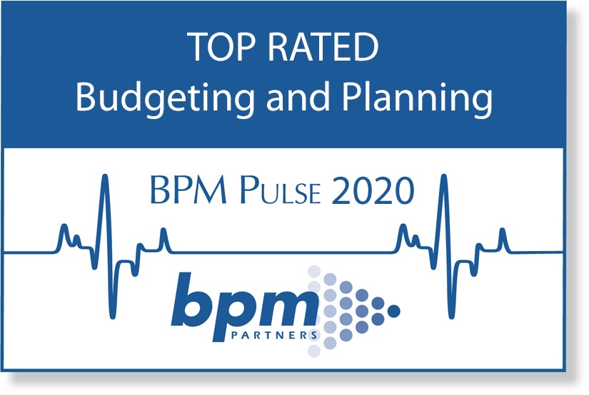 deFacto Planning 2020 BPM Partners Annual Survey Top Rated | deFacto Planning Top Rated for Budgeting and Planning