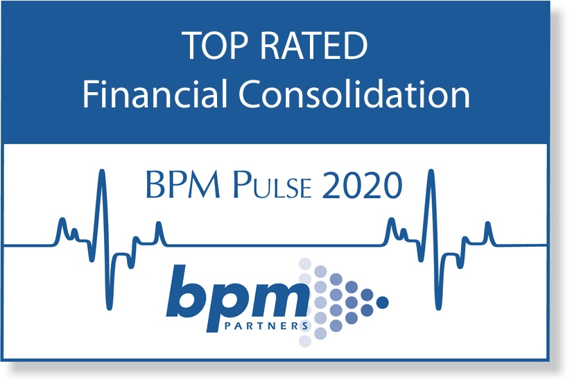deFacto Planning 2020 BPM Partners Annual Survey Top Rated | deFacto Planning Top Rated for Financial Consolidation